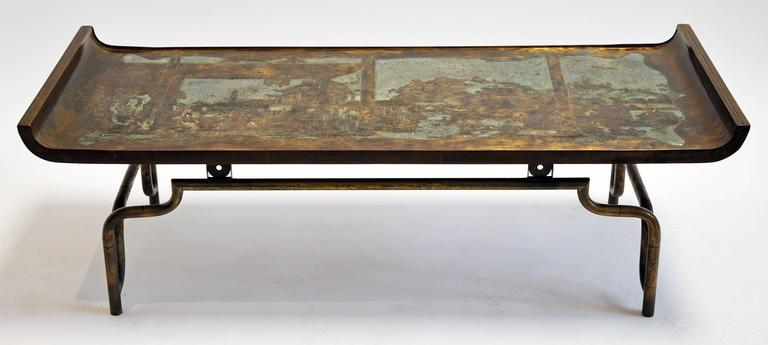 Philip and Kelvin LaVerne Coffee Table Bronze and Pewter 6