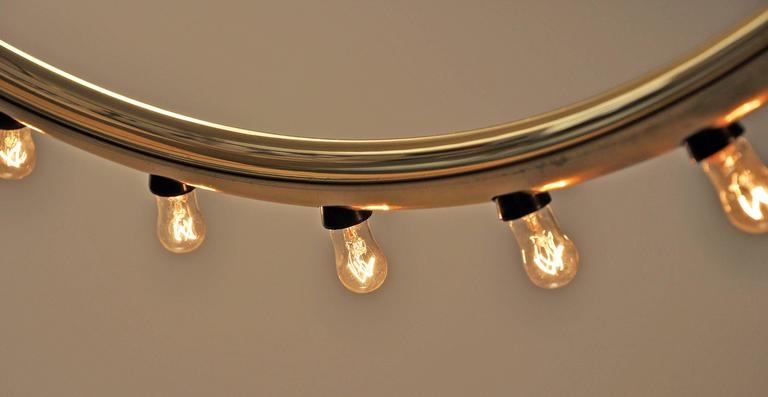 Lightolier Light 1970s 43 Bulb, Polished Brass 3