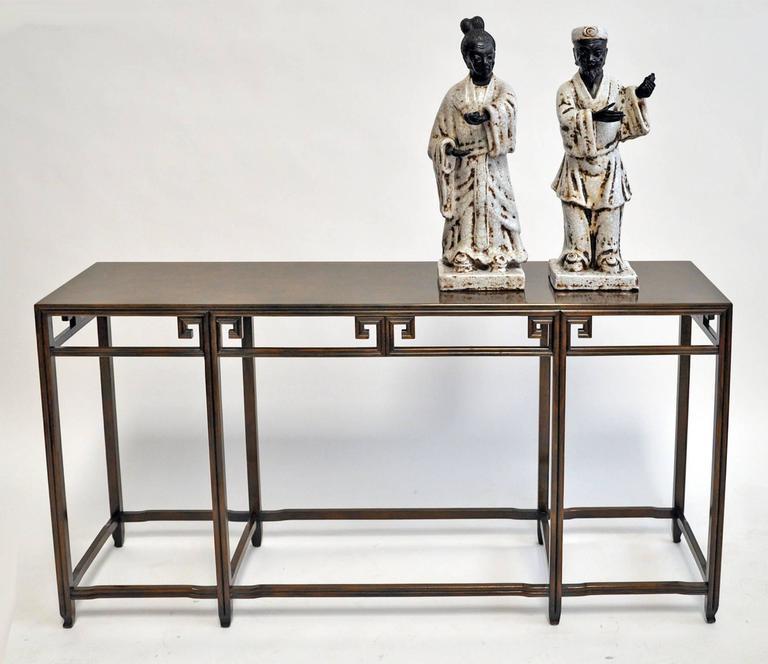 Glazed Marcello Fantoni, 1950s, Italian, Pair of Ceramic Figures For Sale