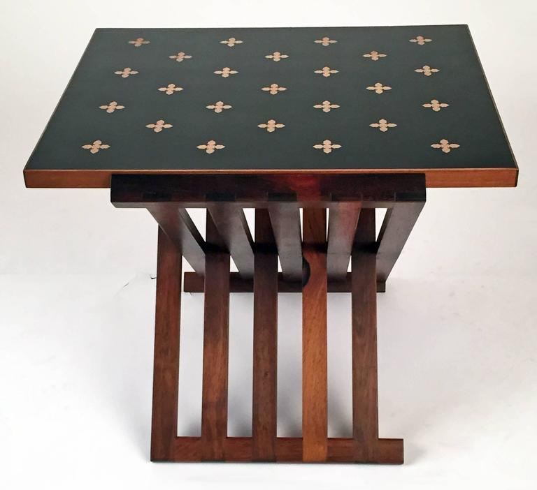 Hand-Crafted Edward Wormley for Dunbar Furniture Table Rosewood  For Sale