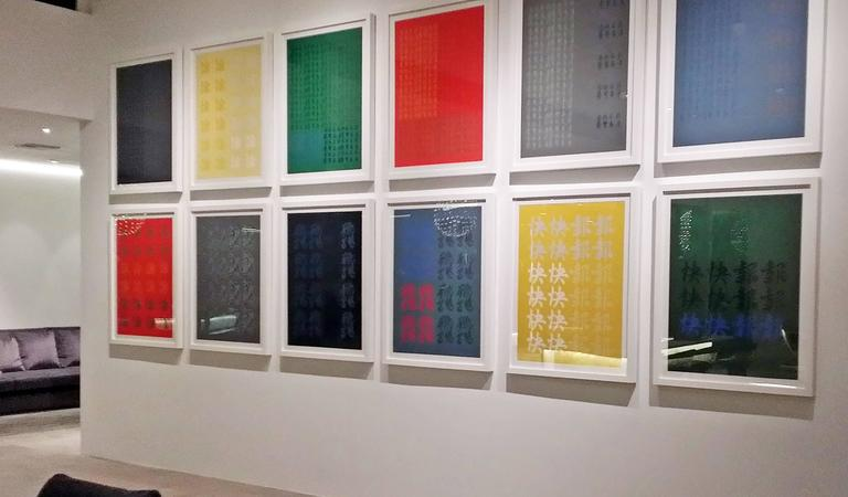 "Modern Chryssa Title ""Chinatown Portfolio II"" Set of 12 Screen Prints For Sale"