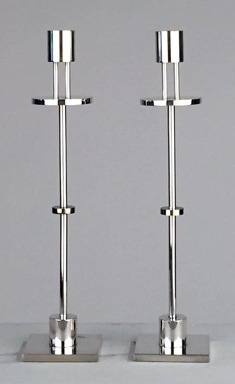Post-Modern  Candlesticks by Ettore Sottsass for Swid Powell, Signed Pair For Sale