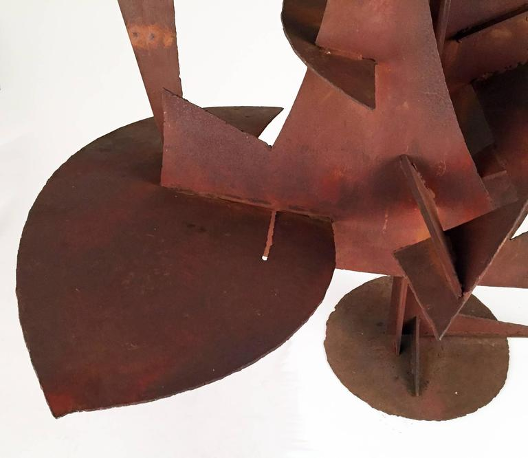 Paul Kasper - Large Modernist Welded Steel Sculpture, 1960 In Excellent Condition For Sale In Los Angeles, CA
