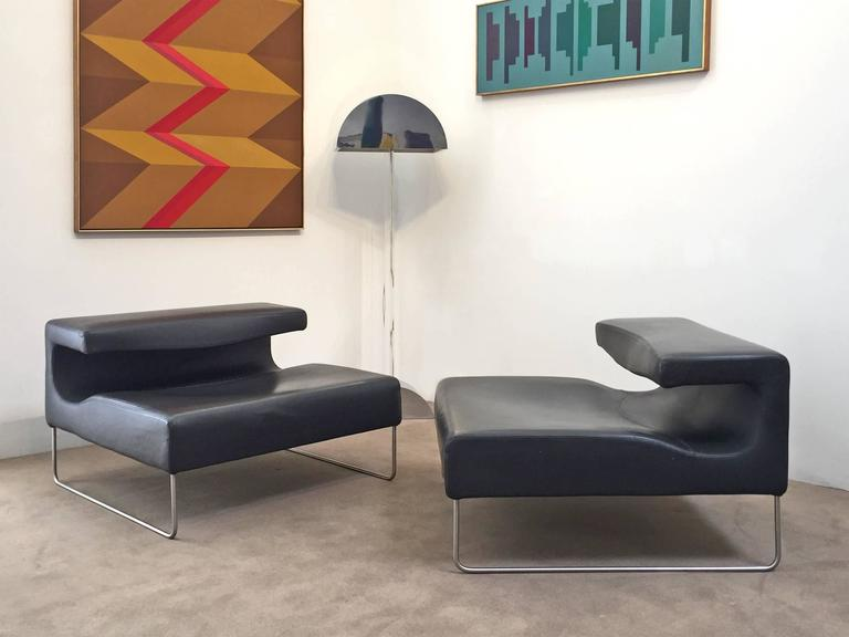 Patricia Urquiola, Pair of Leather Chairs 4