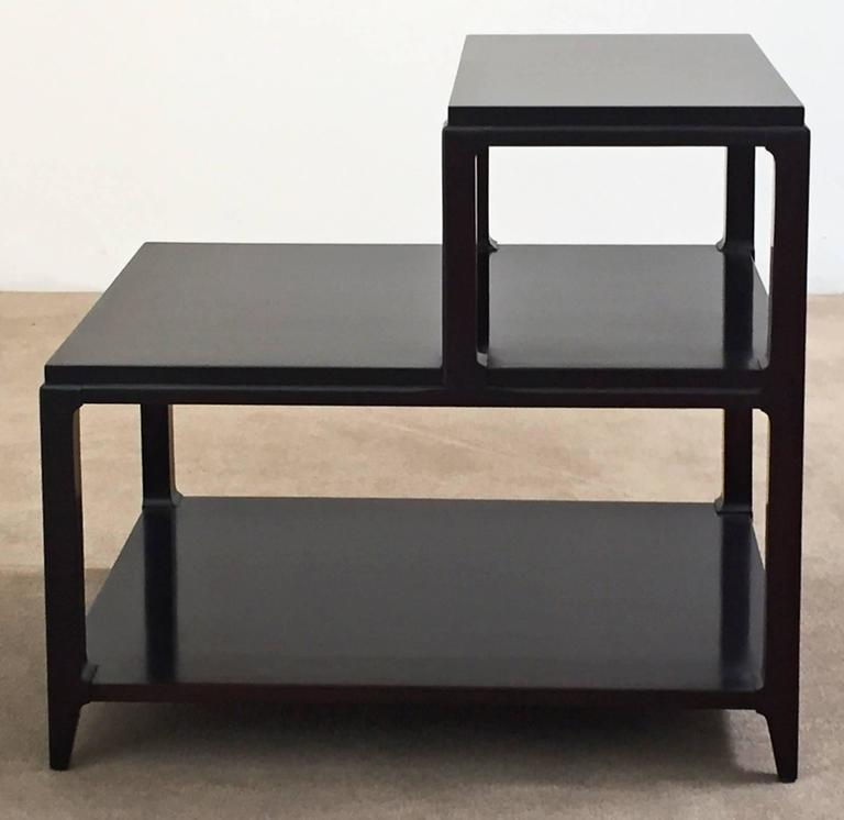 Mid-Century Modern Pair of Mid-Century Lacquered Step Tables For Sale