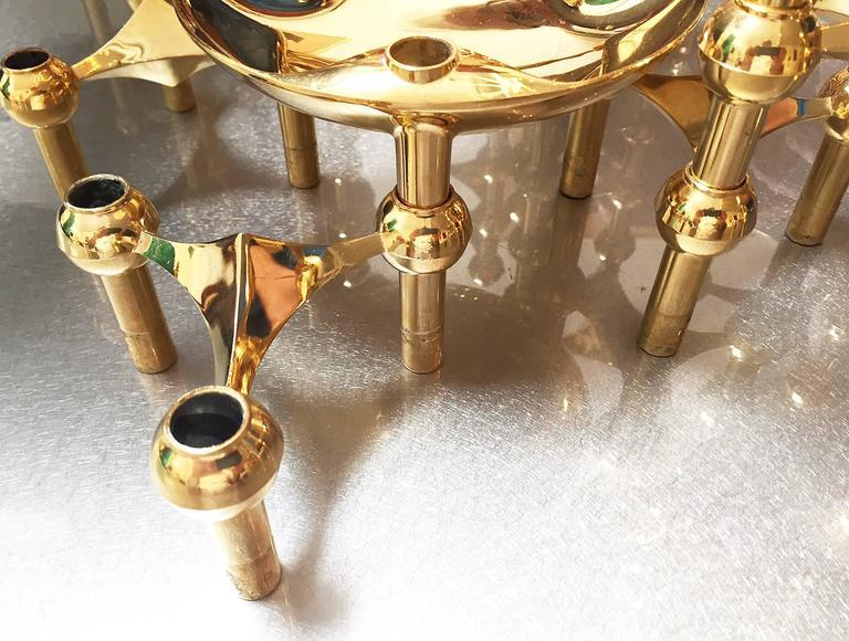1960s Brass Modular Candleholder 2