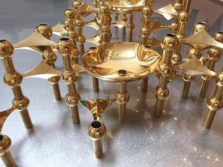 1960s Brass Modular Candleholder 3