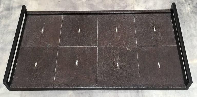 Modern R & Y Augousti, Sting Ray Clad Tray For Sale