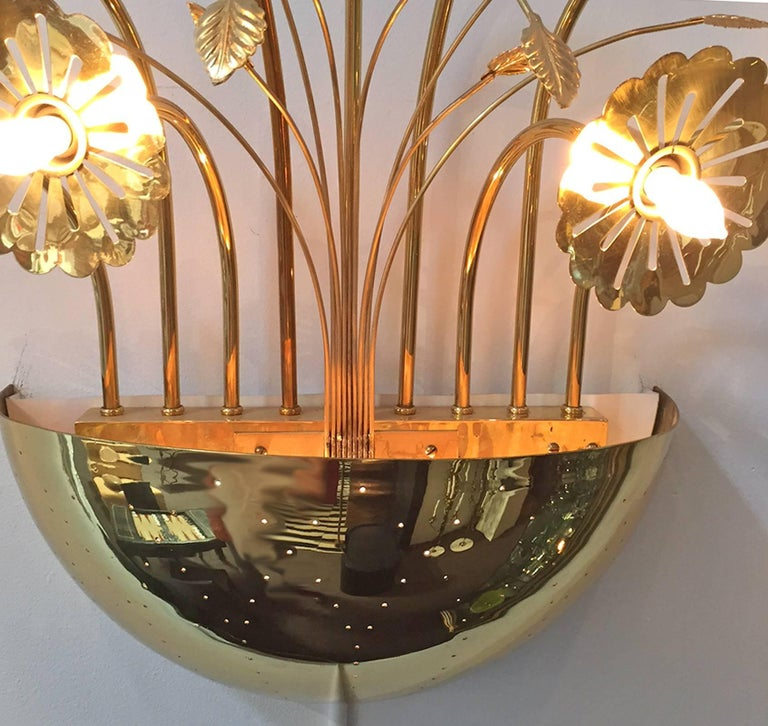 Finnish Paavo Tynell Wall Sconce For Sale