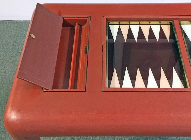 Backgammon Table Reversible Top Lizard Clad 5