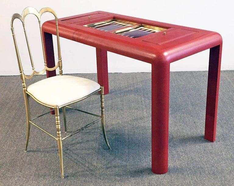 Backgammon Table Reversible Top Lizard Clad 6