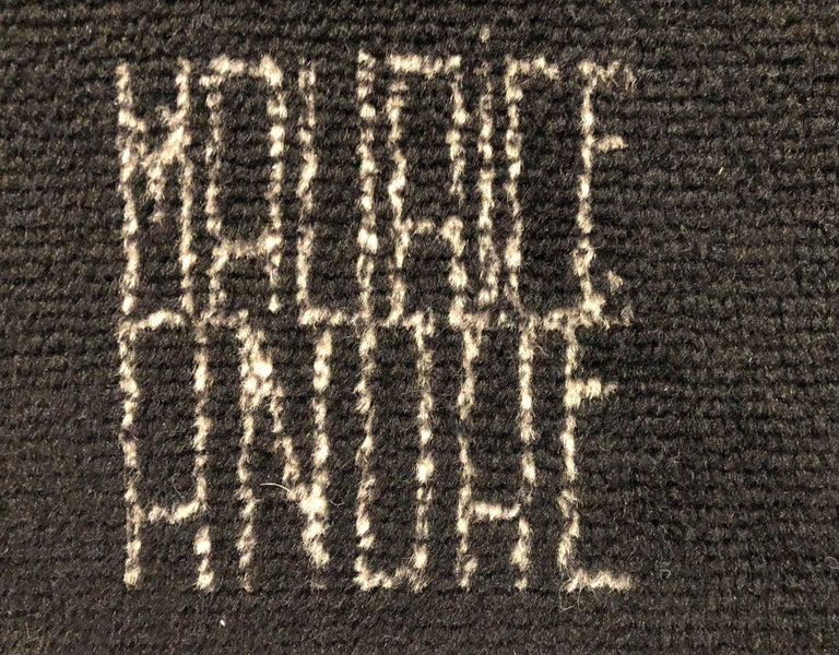 Maurice Andre Signed Wool Carpet 4