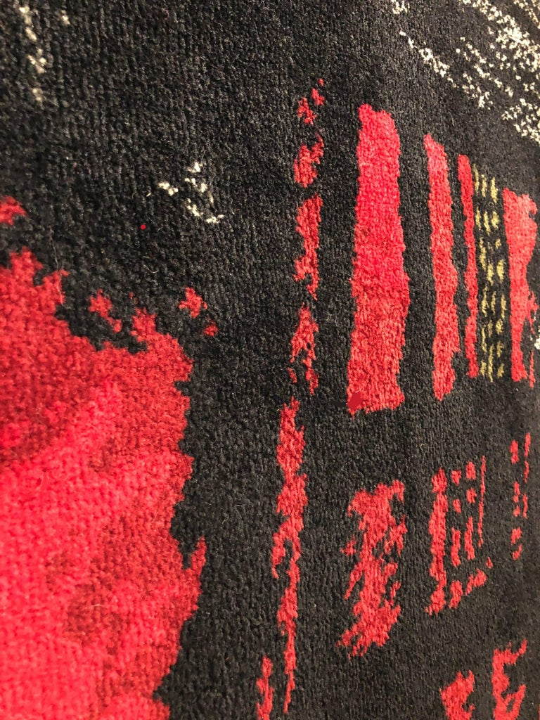 Mid-20th Century Maurice Andre Signed Wool Carpet For Sale
