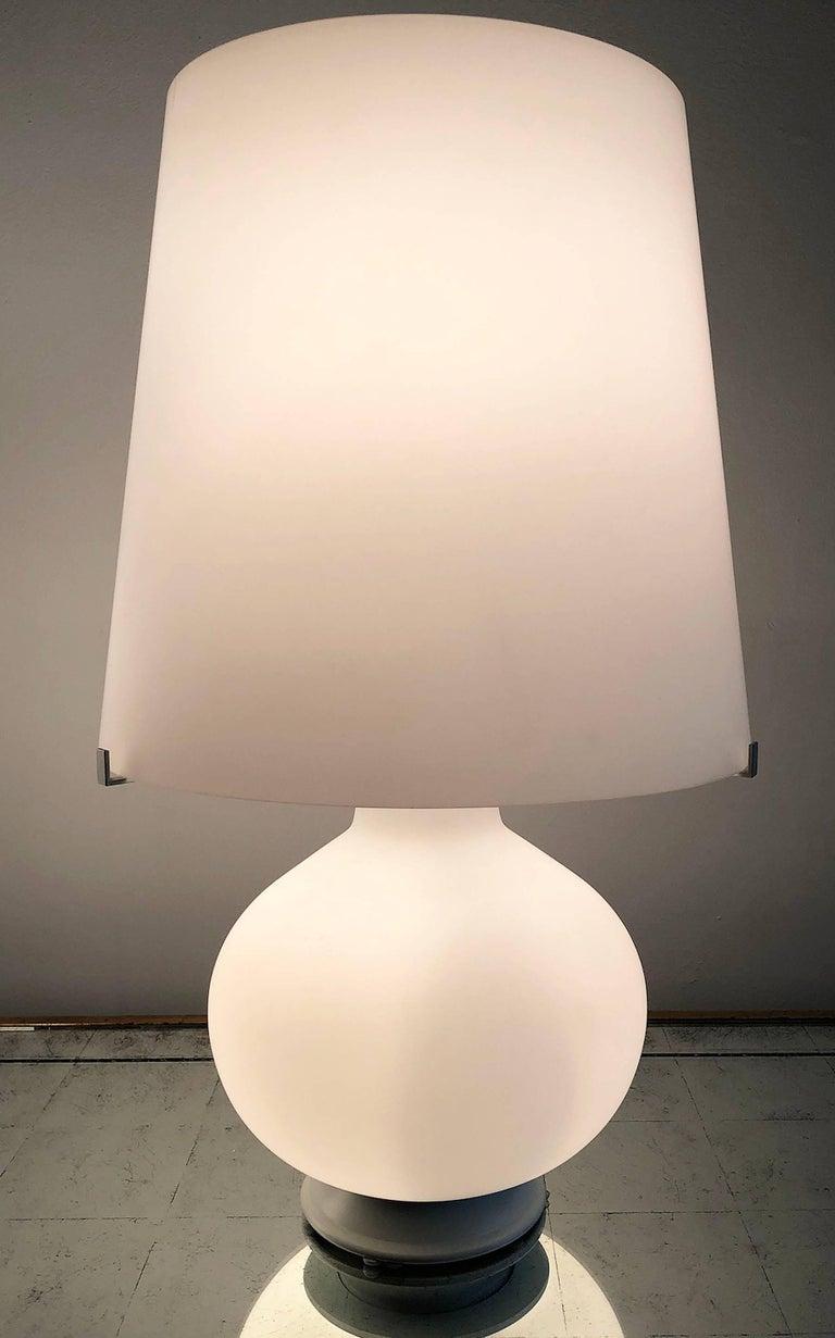 Italian Fontana Arte Glass Lamp For Sale
