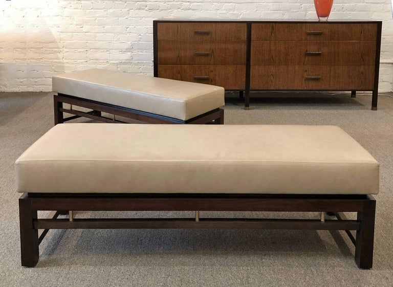American Dunbar Pair of Upholstered Benches Designed by Edward Wormley For Sale