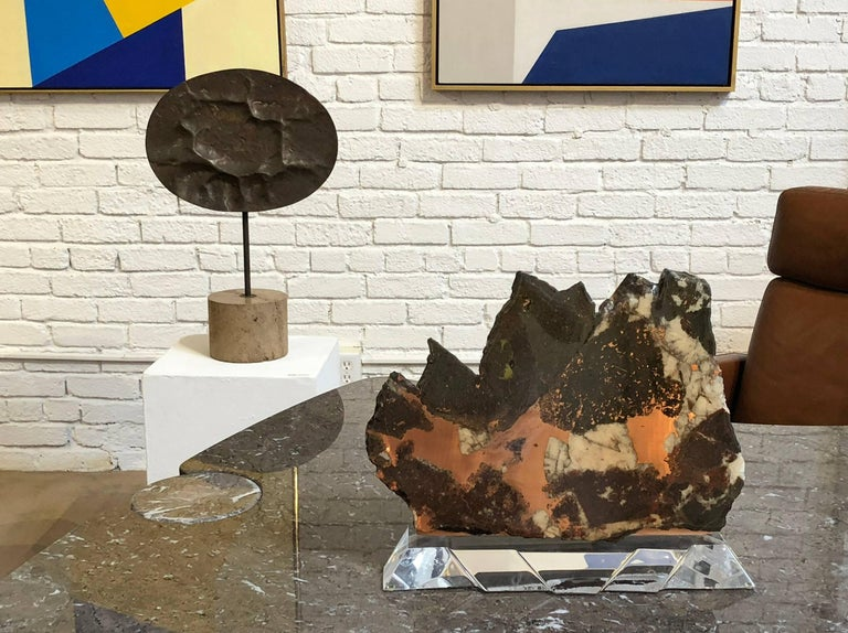 American Mineral Specimen Polished and Mounted For Sale