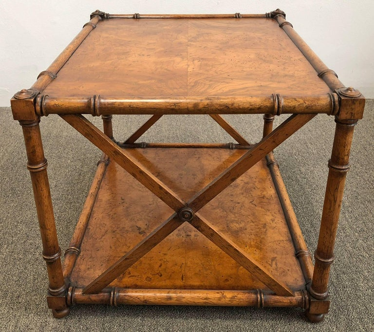 Hollywood Regency Pair of Side Tables  For Sale