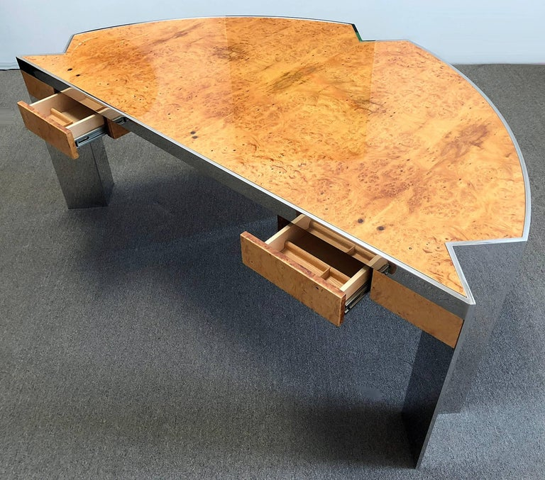 Hand-Crafted Desk by Leon Rosen for Pace Collection For Sale