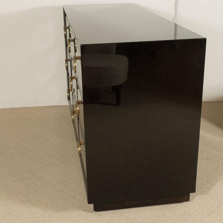 Walnut T. H. Robsjohn-Gibbings for Widdicomb Three-Drawer Commode For Sale
