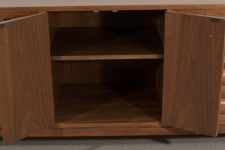 Edward Wormley Dunbar Sideboard, Drawers and Doors with Shelves, circa 1958 For Sale 1