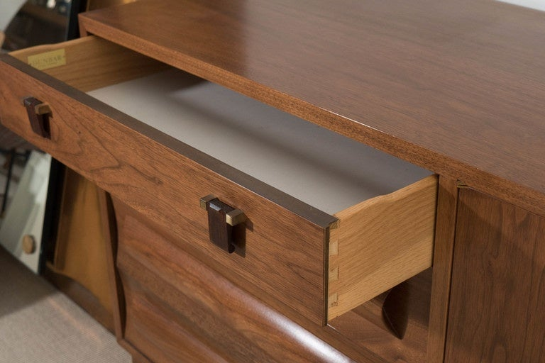 Edward Wormley Dunbar Sideboard, Drawers and Doors with Shelves, circa 1958 For Sale 2