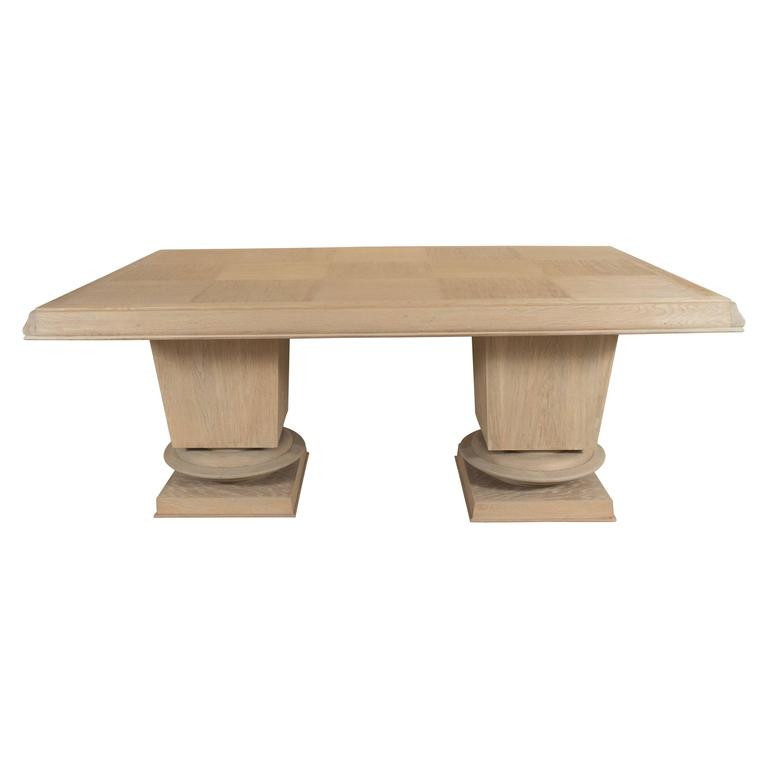 Jacques Klein Oak Dining Table, France 1