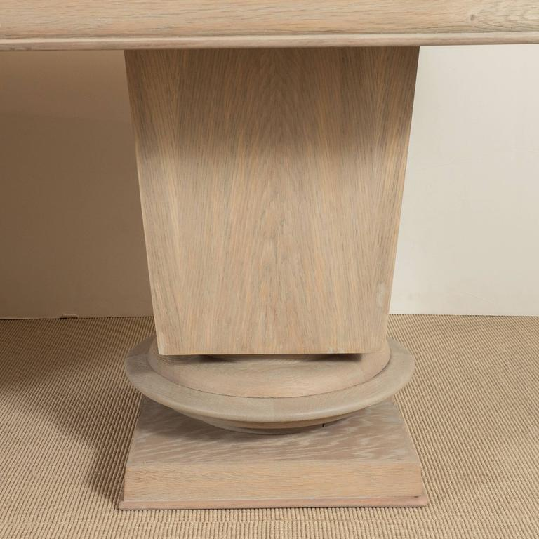Jacques Klein Oak Dining Table, France 7