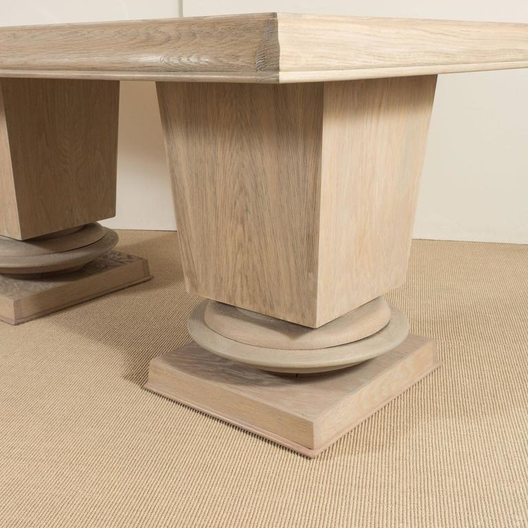 Jacques Klein Oak Dining Table, France 6