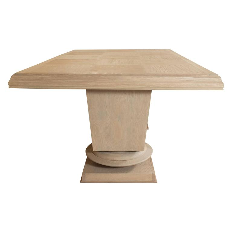 Jacques Klein Oak Dining Table, France 3