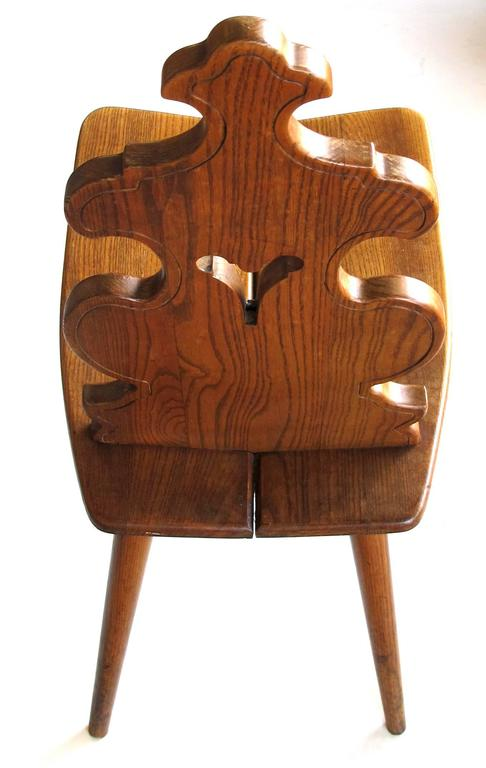 Superieur A Charming And Rustic Pair Of Tyrolean Waxed Oak Alpine Mountain Chairs;  Each Sturdy Chair