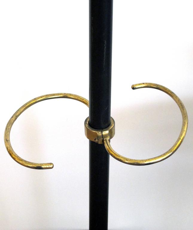 Stylish French 1950s Jacques Adnet Gilt Bronze And Black