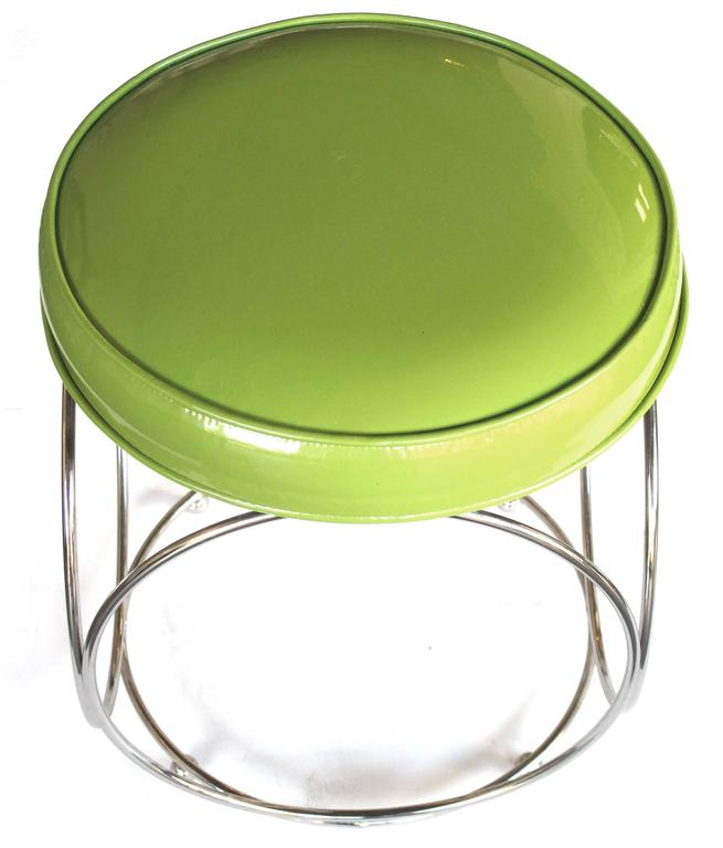 Cool Pair Of American George Koch And Sons Chrome Stools W