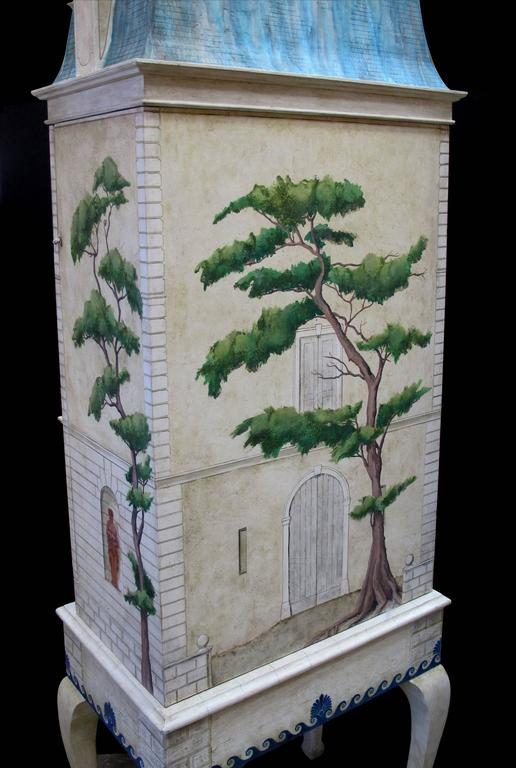 Rare and Masterfully Crafted Hand-Painted Doll House by Eric and Carole Lansdown 4