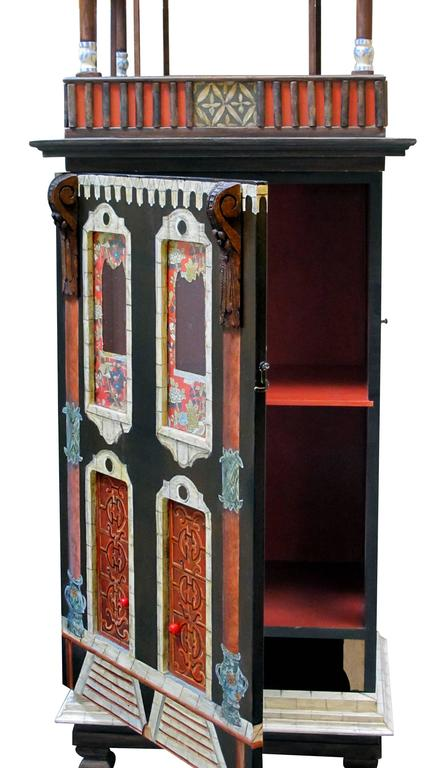Masterfully crafted wooden hand painted dollhouse cabinet eric and carole lansdown for sale at - Eric dupond moretti cabinet ...