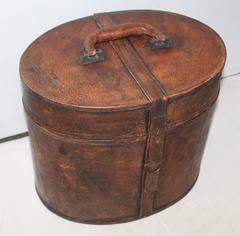 Early Leather Hat Box