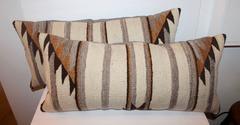 Pair of Navajo Weaving Bolster Pillows