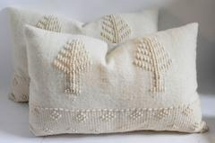 Pair of Pictorial Alpaca /Lambs Wool Pictorial Hand Woven Pillows