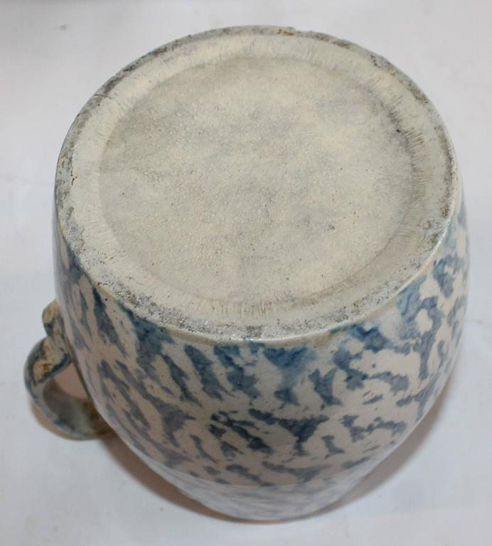 Collection of Four 19th Century Sponge Ware Pottery Pitchers 6