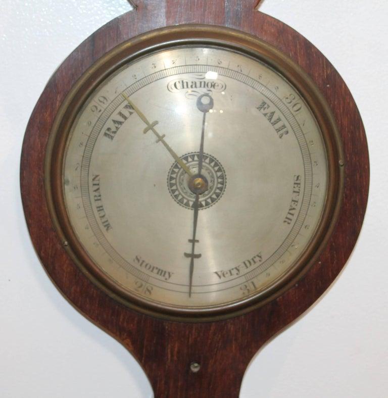 Unknown  19Thc Wheel or Banjo Barometer For Sale