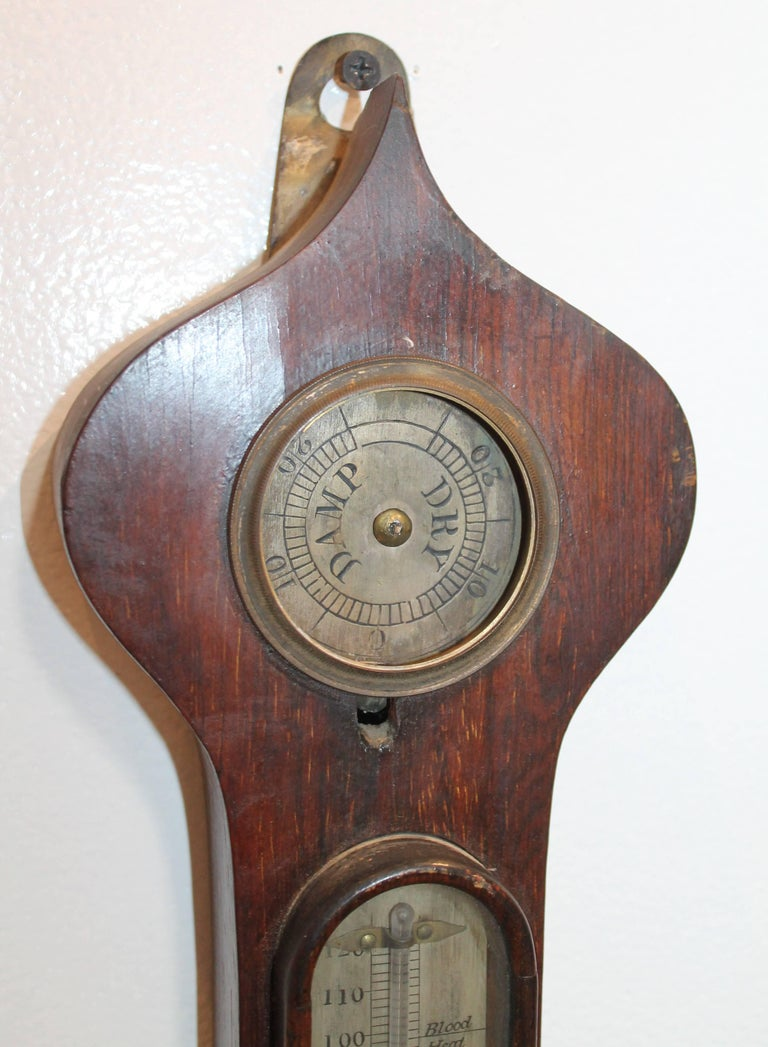 19Thc Wheel or Banjo Barometer In Good Condition For Sale In Los Angeles, CA