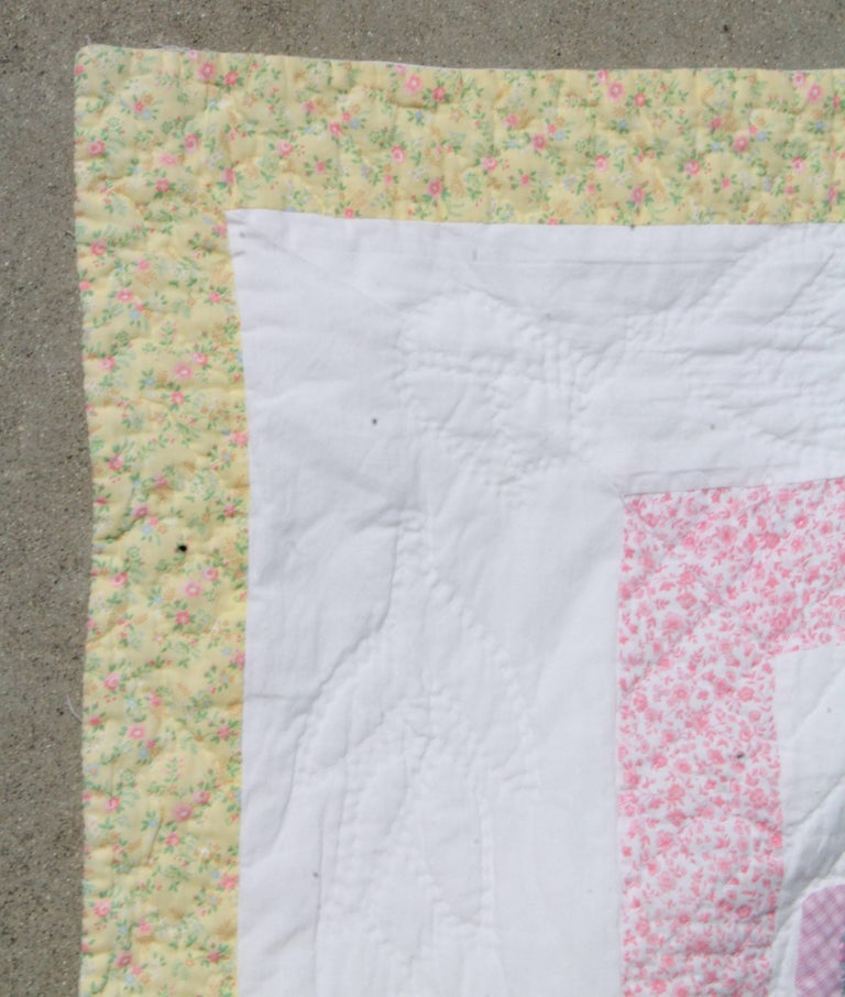 Country 1940s Overall Sam & Sue Applique Quilt For Sale