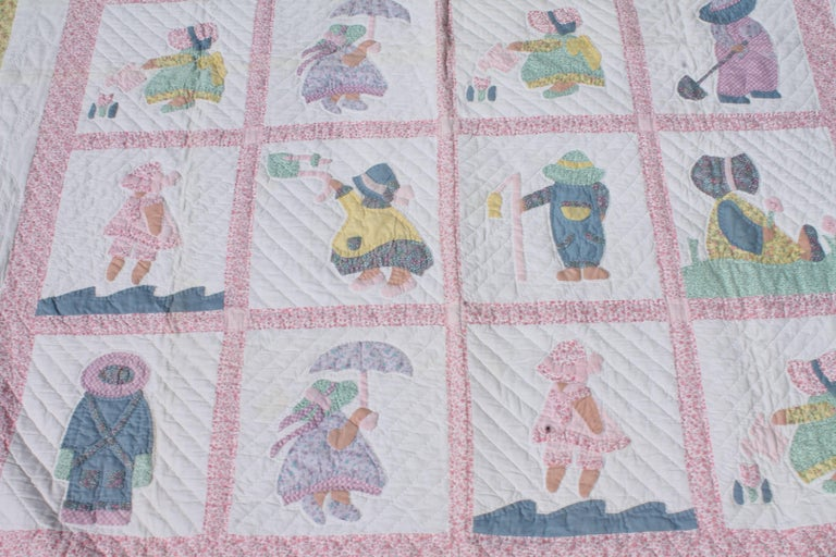 1940s Overall Sam & Sue Applique Quilt 5