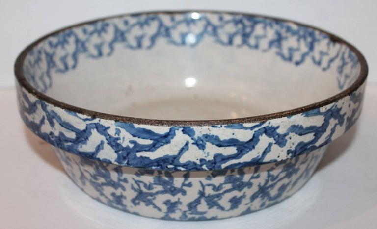 19th Century American Sponge Ware Bake Dish / Pot 2
