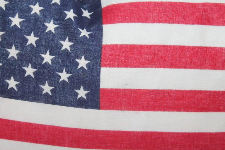 Mid-20th Century Flag Pillows / Four Vintage 50 Star Flag Pillows For Sale