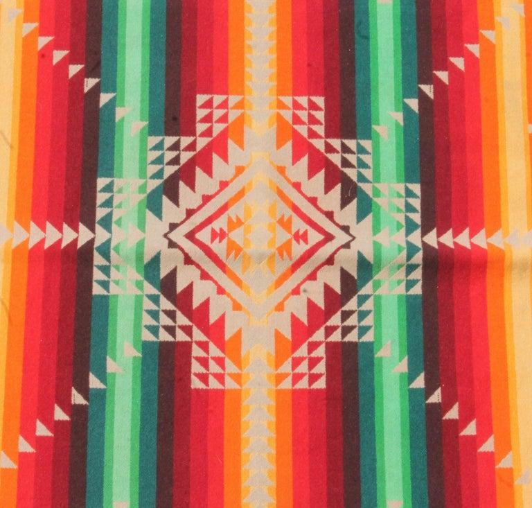 20th Century Pendleton Cayuse Indian Design Blanket For Sale