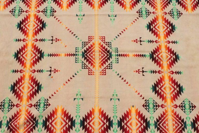 Hand-Woven Pendleton Cayuse Indian Design Blanket For Sale