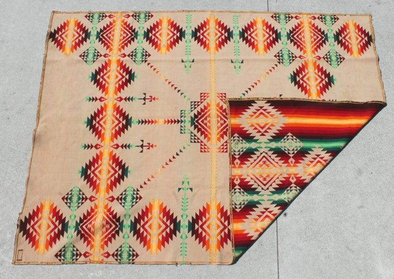 Pendleton Cayuse Indian Design Blanket For Sale 1