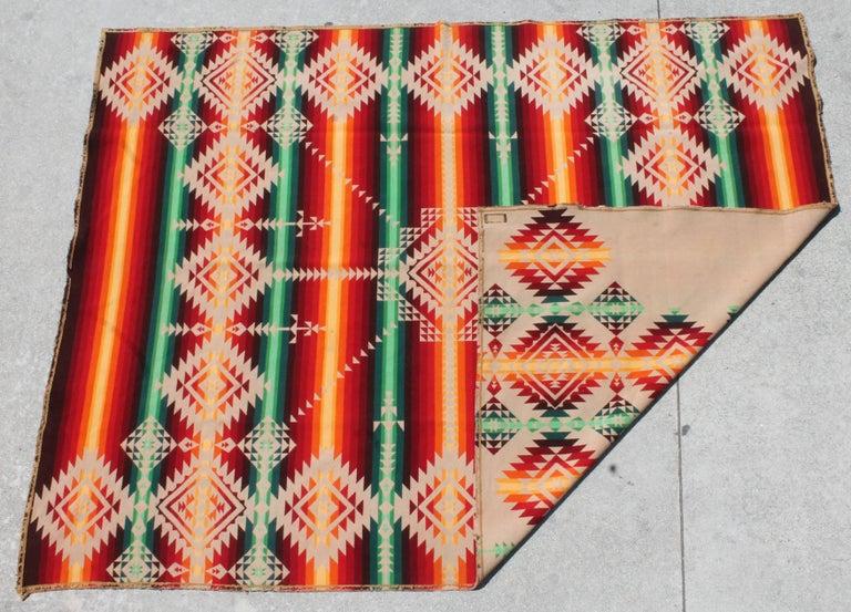 Pendleton Cayuse Indian Design Blanket For Sale 2