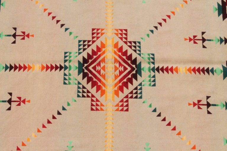 Wool Pendleton Cayuse Indian Design Blanket For Sale
