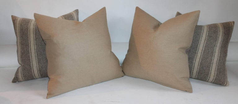 Hand-Woven Collection of Four Saddle Blanket Weaving Pillows For Sale